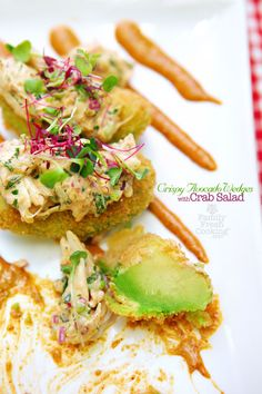 Crispy Avocado Wedges with Crab Salad