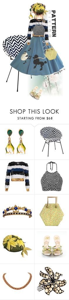 """""""pattern mixing with chair"""" by daizyjayne ❤ liked on Polyvore featuring Dolce&Gabbana, Sonia Rykiel, Mara Hoffman, Versace, John Hardy and contestentry"""