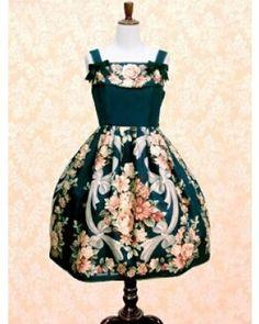IW Replica Rose Prints Lolita JSK #Lolitadress  #JSK