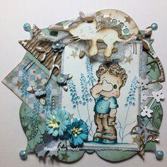 Magnolia card by Annette van Breda