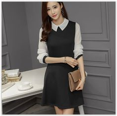 Back-to-School Sale~ Up to 80% OFF all items! Bornite - Collared A-Line Dress US$ 14.95