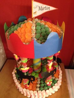 Carrusel Candy Cake - Tarta de Chuches - Gâteau de bonbons - Snoeptaart - #gominolas