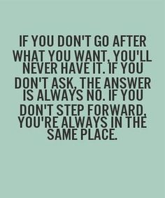If You Dont Ask, The Answer is Always No – Inspirational Quote