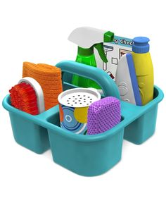 Melissa and Doug Kids' Let's Play House Cleaning Basket Set