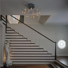 "Chicago contemporary staircase, Burns and Beyerl Architects. ""Hybrid House""  Early Prairie 1894 George W Maher house."