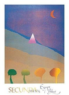 Egypt Blue/One Moon/Four Trees - Poster by Arthur Secunda (25 x 38) by Haddads Fine Art [並行輸入品] Haddads Fine Art http://www.amazon.co.jp/dp/B017OFIDV6/ref=cm_sw_r_pi_dp_Tf82wb113A908