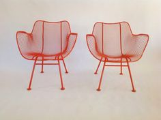 Russell Woodard Sculptura Wire Arm Chair Patio by RetroLuxeHome, $425.00