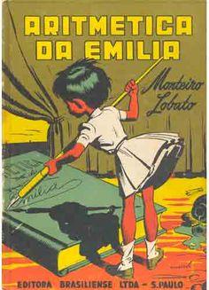 Sebo do Messias - Livro - Aritmética da Emília / design Augustus - capa Monteiro Lobato