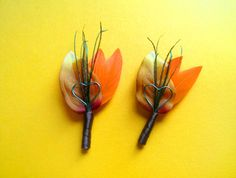 Rustic wedding lapel pins fall wedding boutineers by Rationale, $10.00