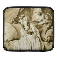The Letter (Spanish Conversation) by Fragonard Sleeves For iPads