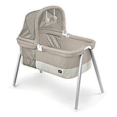 image of Chicco® Lullago Deluxe Travel Crib in Taupe