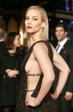 Jennifer Lawrence was a blonde bombshell in her Dior gown at the Hunger Games premiere.