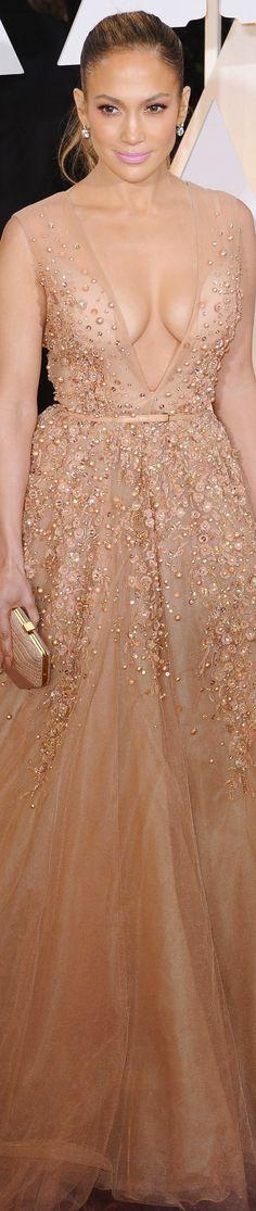 Jennifer Lopez 2015 Oscar Red Carpet