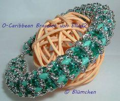 O-Caribbean bracelet beaded by Beate Blum ( http://meineperlenwelt.blogspot.de/2014/04/o-caribbean-bracelet.html ).