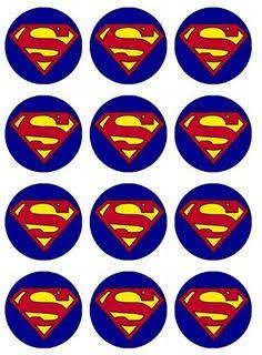 Superman Cupcake Toppers Edible Image For Birthday Party Edible with Superman Cupcake Toppers Edible Image For Birthday Party Edible Cupcake Toppers Bolo Do Superman, Superman Cupcakes, Superman Baby, Superman Birthday Party, Batman Party, Superhero Cake, Superhero Superman, Cupcake Party, Supergirl