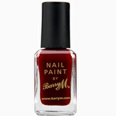 Barry M - Nail Paint - Raspberry 273 Barry M Nail Polish, Barry M Nails, Bright Red Nails, Black Nails, Barry M Cosmetics, Wine Nails, Cosmetic Companies, Diy Beauty, Nail Colors