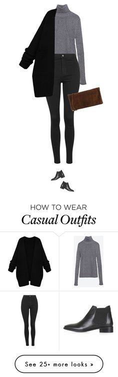"""""""Wanna see outfit like this in action ? New blog post is up !"""" by azzra on Polyvore featuring Zara, Topshop and Dsquared2"""