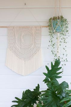 Macrame Wall Hanging // Fibre Art // Tapestry // Weaving // Tapestry // Home Decor // Boho Wedding // Natural Cotton // Leaving The City by KnottyBloom on Etsy https://www.etsy.com/listing/262944848/macrame-wall-hanging-fibre-art-tapestry