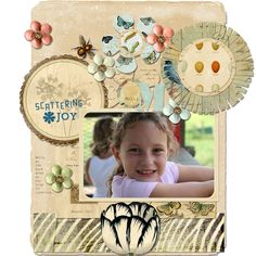 Using My Pretty. Love this collection and this gorgeous page from Sarah Batdorf