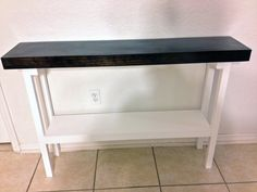 """48"""" Espresso Sofa Table / Entryway Table / Hall Table / Foyer Table / Tall Table by CandieHartzCreations on Etsy https://www.etsy.com/listing/202598933/48-espresso-sofa-table-entryway-table"""