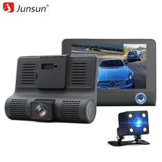 "Junsun 4.0"" Car DVR Camera Dual Lens with Rear view Registrar three camera Night vision car dvrs Video dashcam Camcorder //Price: $59.70 & FREE Shipping //     #gps"