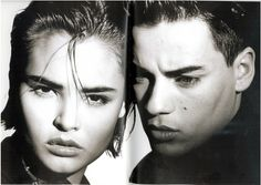 Buffalo Boys & Girls - Talisa with her then boyfriend Nick Kamen - Ray Petri's book  #LisaEldridge