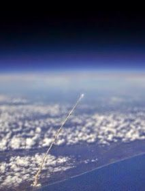 Shuttle Launch,,, Photographed from space