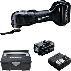 *CLICK TO ENLARGE* Panasonic EY46A5 18V brushless multi-tool with 2x 5Ah batteries