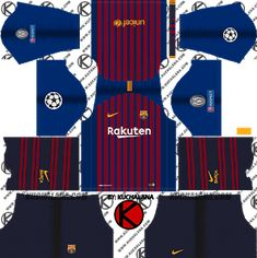 F.C. Barcelona 2018/19 Nike UCL Kit - Dream League Soccer Kits