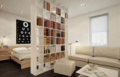 modern interior design with room dividers