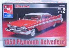 AMT Classics 1/25 1958 Plymouth Belvedere Model Car Kit #31156 NIB Parts Sealed #AMTERTL
