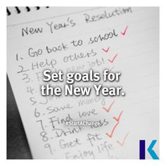 Set goals for the New Year. #StartAChange