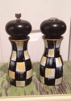 Just painted my brown salt and pepper mills mackenzie Funky salt and pepper grinders