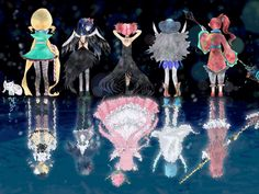 Puella Magi Madoka Magica - All 5 Witch and Magical Girl Fitness