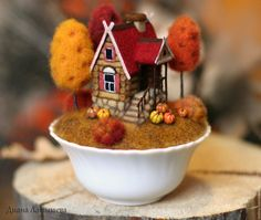Buy Fabulous house AUTUMN - house, a house in the village, miniature