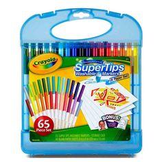 Kit Marcadores Súper Tips Crayola Crayola - Pepe Ganga - pepeganga