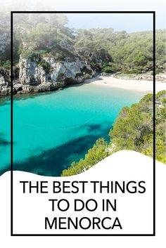 If you're looking for the best things to do in Menorca, I've got lots of suggestions. Although it's a relaxing island, it's easy to fill your days exploring the nature and the culture of Menorca! Europe Destinations, Europe Travel Tips, Travel Guides, Ibiza, European Vacation, European Travel, Backpacking Europe, Tenerife, Menorca Beaches