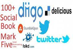 give you 20,Stumbleupon,diigo,delicious,pinterest,facebook s... for $3