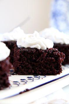 Vegan Brownies with Coconut Cream