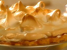 Aunt Jimmy's Butterscotch Meringue Pie recipe from Sweet Dreams via Food Network Butterscotch Pie, Pie Recipes, Dessert Recipes, Recipies, Caramel Recipes, Biscuits, Pie Dessert, Galette, Recipes