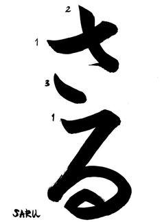 saru hiragana