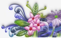 Quilled daisy by all things paper, via Flickr