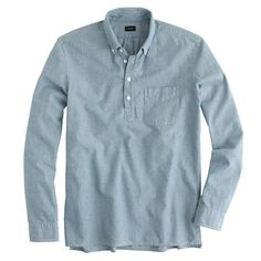 Japanese chambray popover - Long-Sleeve Popovers - Men's shirts - J.Crew