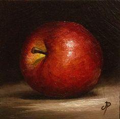 Little Red Apple, J Palmer Original oil still life mini Art in Art, Artists (Self-Representing), Paintings | eBay