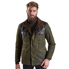 489ac4d38de4 Land Rover Traveller Wax Jacket in Olive by Barbour - FINAL