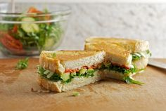Grilled Cheese- Avocado, arugula, provolone food