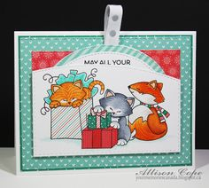 Your Memories with Ally: Fox & Kitty Birthday  -- Stamps by Newton's Nook Designs #newtonsnook