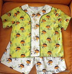 PJs with pattern from Sewing for Boys Book.---This is sooooo cute