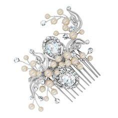 Alan Hannah Devoted Designer peardrop and pearl hand wrapped comb- at Debenhams.com
