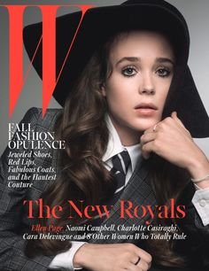 W Magazine October 2014 | Ellen Page by Inez & Vidoodh #Covers2014